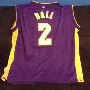 NBA LA Lakers Lonzo Ball jersey